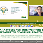 DA-4A offers agri-interventions to repatriated OFWs in CALABARZON